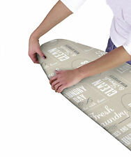 Country club multi fit élastique ironing board cover texte double couche arrière