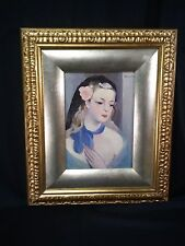 MARIE LAURENCIN BEAUTIFUL PAINTING OF LADY!!!  BEAUTIFUL ORNATE FRAME!! - WOW!!!