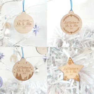 Last Christmas As Mr & Miss Bauble - Hanging Tree Decoration