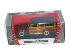 1948 Ford Woody, BURGUNDY, 1:43 Scale - Road Signature Collection