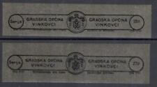 Yugoslavia Croatia local revenues Vinkovci strips MNH fiscal
