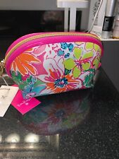 New Nwt Lilly Pulitzer for Target Nosey Posie Travel Clutch Bag Makeup Case