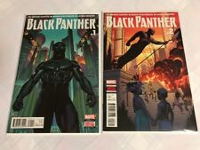BLACK PANTHER # 1 & #2 First (1st) PRINT, 2016 Comic Book Lot Movie Out