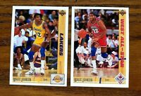 1991 - 1992 Upper Deck Magic Johnson #45 and #57 - Lakers