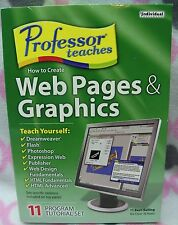 Professor Teaches HOW TO CREATE WEBPAGES & GRAPHICS NEW Sealed SOFTWARE PMC-CW5
