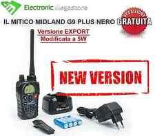 RICETRASMITTENTE MIDLAND G9 PLUS NERO PMR/LPD 446 VERSIONE EXPORT CON POTENZA 5W