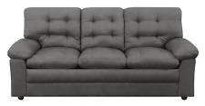 Mainstays Buchannan Soft Sofa Couch Grey Microfiber Arm Rests Foam Padding Gray