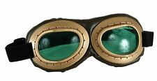 Aviator Goggles Gold Black Green Costume Accessory