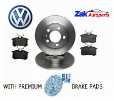 Audi A3 MK1 96-02, 1.6 1.8 Turbo & 1.9 TDI Rear Brake Discs with Blueprint Pads