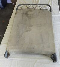 Vintage Metal Frame and Canvas Stretcher form Defunct Funeral Home, Mortuary