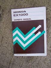 1985 Honda EX1000 Portable Generator Owner Manual MORE MANUALS IN OUR STORE  S