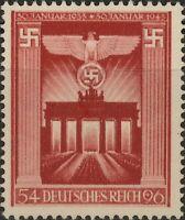 Stamp Germany Mi 829 Sc B216 1943 WWII 3rd Reich Emblem Brandenburg Eagle MH