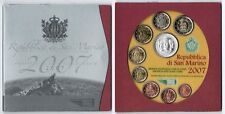 Offizieller Kurssatz San Marino 1 Cent bis 5 Euro Silber(!) 2007 prägefrisch