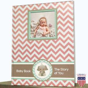 Newborn Album Journal Baby Memory book baby shower 1 st year keepsake milestone