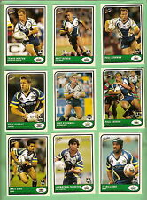 2005  NORTH QUEENSLAND  COWBOYS SELECT  RUGBY LEAGUE TRADITION CARDS