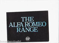 ALFA ROMEO ALFASUD TI SPRINT VELOCE GTV BROCHURE 1980