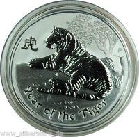1/2 OZ 999 Silber Lunar II 2010 Jahr des Tiger