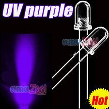 1000 PCS x 5mm UV 395-400nm purple Round LED Superbright Light 25 Angle UV