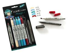 COPIC CIAO 5+1 TWIN TIPPED MARKERS PLUS 0.3 FINELINER MANGA 2 SET (MANGA ART)