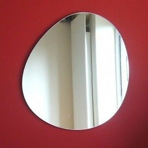 Round Pebble Shaped Acrylic Mirrors - Various Sizes