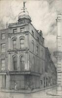 FRANK LEWIS EMANUEL (1865-1948) Pencil Drawing 50 HIGH HOLBORN LONDON 1909
