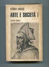 Gyorgy Lukacs ARTE E SOCIETÀ I Scritti scelti di estetica Editori Riuniti Libro