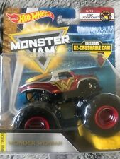 Bnib Hot Wheels Monster Jam Wonder Woman Truck Diecast 1:64 Scale New Nib #6/15