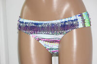 NEW Jessica Simpson Limelight Tribal Print Ruched Side Hipster Bikini Bottom S