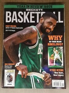 Beckett Basketball Guide January-2018 Kyrie Irving Boston Celtics Cover