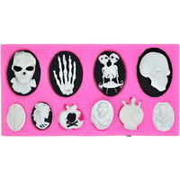 Supplies Happy Halloween Halloween Resin Mould Silicone Molds Skull Hand