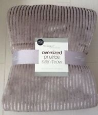 Large King Size 200x250cm Throw Bedspread Silver Grey Steel Bed Cover Double