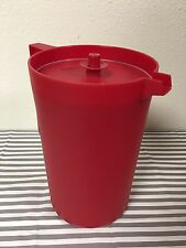 Tupperware Classic Pitcher Push Bottom Seal Red One Gallon New