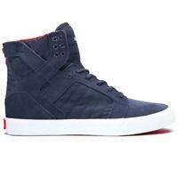 Supra Men's Skytop Hi Top Sneaker Shoes Navy/Star-White Footwear Casual Skate Go