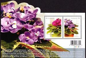 Canada MNH 2010 African Violets, souvenir sheet sc#2376