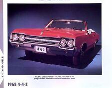 1965 Oldsmobile Cutlass 442 F-85 400 ci 345 hp info/specs/photo prices 11x8