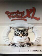 Purrfect Portal Xl Pet Cat Door for Interior Doors for Large Cats up to 30 Lbs