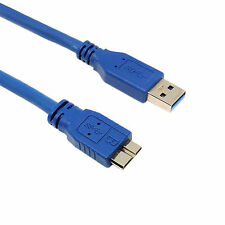2m USB 3.0 Micro B Lead Male Type A to MicroB Cable SUPERFAST BLUE 2 Metre LONG