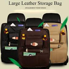 New Car Seat Back Multi Pockets Leather Storage Bag iPad Phone Holder Organizer