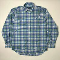 Vineyard Vines Mens Medium Harbor Shirt Button Front Long Sleeve Plaid Blue