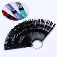 50Pcs Bamboo Nail Art False Tips Stick Polish Practice Display Fan Manicure Tool