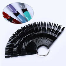 50Pcs Bamboo Nail Art False Tips Stick Polish Practice Display Fan Manicure Tool