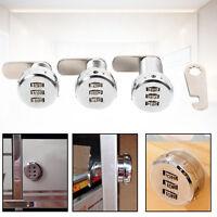 3 Digit Code Combination Cam Cabinet Zinc Alloy Convenient Password Lock HG