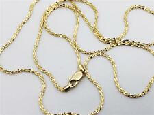 """14K 16"""" Inch 1.1mm Solid Yellow Gold Diamond Cut Sparkle Necklace Chain"""