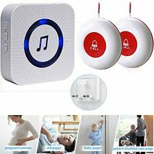 Safety Alarm/Caregiver Pager Wireless Call Button/Emergency Pager/Panic