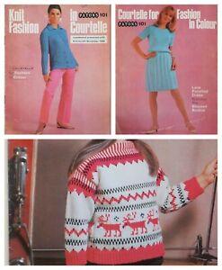 Patons Knitting Pattern Book Knit Fashion Ladies Men Kids 101 Nov 1966 Vintage
