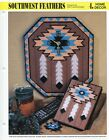 Southwest Feathers Clock Bookmark Book Cover plastic canvas pattern leaflet