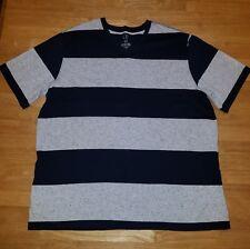 mens op striped v-neck t-shirt size xl