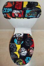STAR WARS Characters Fleece Fabric Toilet Seat Cover Set Bathroom Accessories