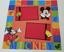 Disney Mickey Mouse Scrapbook Page 12x12 Layout Disneyland Souvenir Frame 4 Gift