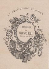 Ex-libris Gustave ROUX (Briançon, 1815 - Grenoble, 1891) magistrat à Bourgoin